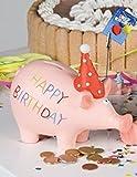 XXL Sparschwein Happy Birthday Schwein Geburtstag Geburtstagsgeld Geldgeschenk Urlaub Reise Führerschein