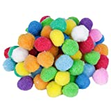 80pcs Colored Round Pompon Ball