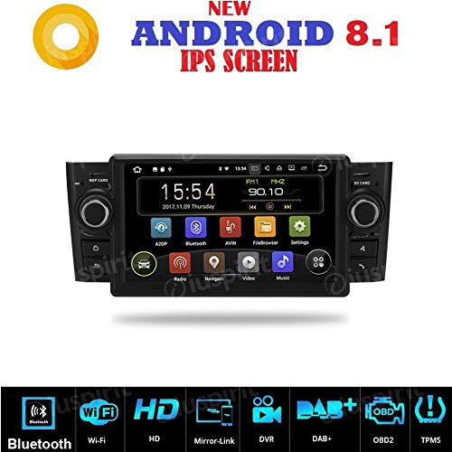 Android 7.1 GPS USB SD Wifi Bluetooth Radio 2 Din navegador Fiat Grande Punto...