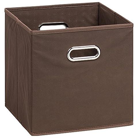 (H&S) Aufbewahrungsbox MIA - Faltbox - Korb - 28x28x28 cm - (Braun)