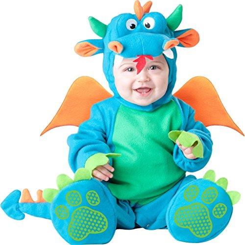 ASVP Shop NEW BABY Jungen Mädchen Kleinkinder Animal Halloween Xmas Party Kostüm Jumpsuit Gr. 12-18 Monate, Lil Dragon