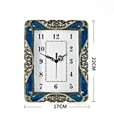Axiba Kaminuhren Kreative Mute Uhr Wohnzimmer Mode Uhr Schlafzimmer Pastorale Tischuhr Ornamente 22 * 17 * 4 cm-Hausdekorationen