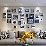 Hty xk Wandbild der europäischen Art und Weisefotorahmenwohnzimmer, Das kreative Wandkombinationspolymernachahmung hölzerne einfache Moderne Rahmenwand Wedding ist (Farbe : B)