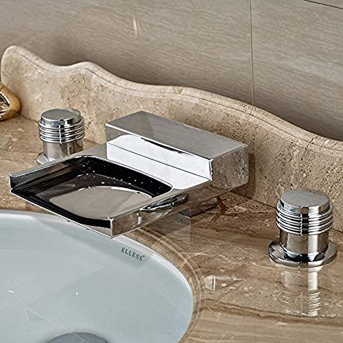Chrom Poliert Verbreitet Wanne Füller Deck Montieren Dual Griffe Waschbecken Badewanne Mischbatterie Becken Wasserhahn