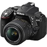 Nikon D5300 SLR-Digitalkamera (24,2 Megapixel, 8,1cm (3,2 Zoll) LCD-Display, Full HD, HDMI, WiFi, GPS, AF-System mit 39 Messfeldern) Kit inkl. AF-S DX 18-55 VR II Objektiv schwarz