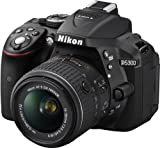Nikon D5300 Digital SLR with 18-55mm VR II Compact Lens Kit - Black (24.2 MP) 3.2 inch LCD