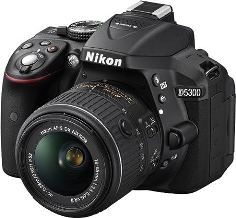 Nikon D5300 Appareil photo numérique Réflex 24,2 Mpix Kit Objectif AF-S 18-55 mm VR II Noir