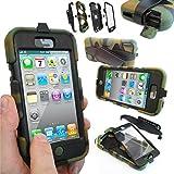 Coque Protection Robuste Antichoc Robuste pour téléphones et tablettes - Apple iPhone 4S / 4, Camouflage / Armée