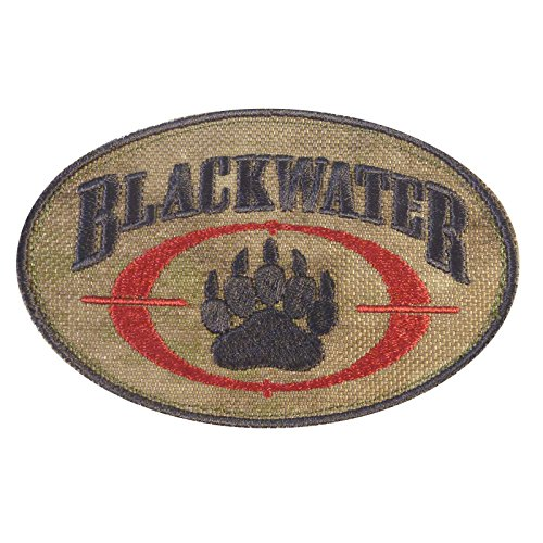 A-TACS AU Blackwater Insignia Academi Embroidered Tactical Morale Milspec Velcro Patch