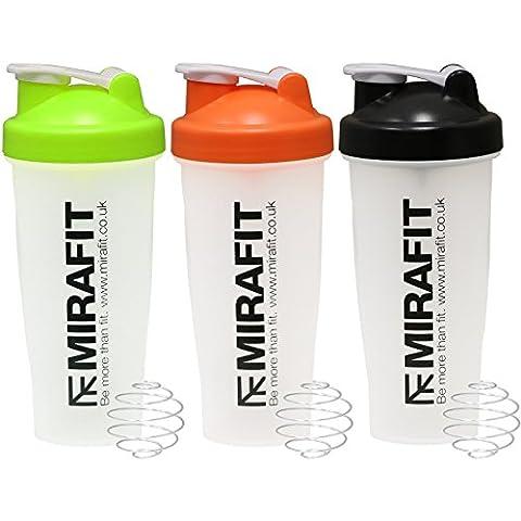 MiraFit 600ml Proteinshaker, Flasche fürs Fitnessstudio - Auswahl aus verschiedenen Farben
