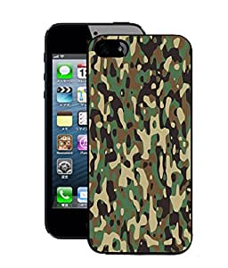 Fuson 2D Printed Army Dress Designer Back Case Cover for Apple iPhone 5 - D893