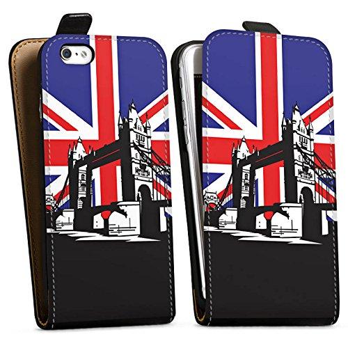 Apple iPhone X Silikon Hülle Case Schutzhülle London Großbritannien Tower Bridge Downflip Tasche schwarz
