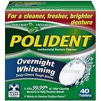 Polident - Parfums Menthe, Antibactérien - Tablettes Nettoyantes Prothèse Dentaire Avec Action Blanchissante,...
