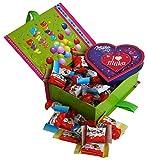 Geschenk Set Happy Birthday mit Kinder Minis und Pralinen, 1er Pack (1 x 250g)