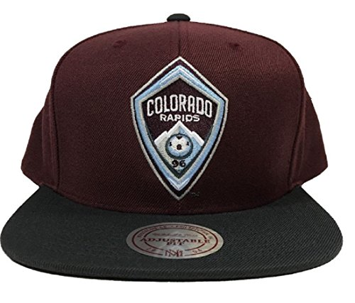 Mitchell & Ness Colorado Rapids 2Tone Team Logo Snapback Cap-Burgund/Schwarz - Krone Logo Tee