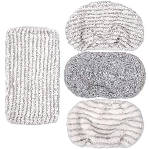 KEEPOW ZR005801 Kit de Remplacement Conçu pour ROWENTA Clean & Steam (2 Lingettes Origin + 1 Microfibres Dur pour Tache Têtue + 1 Coral Fleece Molleton pour Cheveux Poils d'animaux)