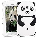 kwmobile Silikon Hülle Case für Samsung Galaxy S3 / S3 Neo mit Panda Design - Handy Cover Schutzhülle in Schwarz Weiß