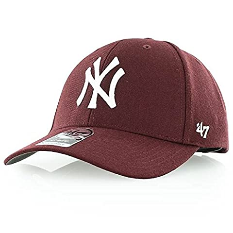 47 Brand MLB New York Yankees '47 MVP Adjustable Velcro Strap Baseball Cap Maroon