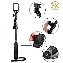 3Keys Bluetooth Selfie Stick for Smartphones, Action Camera and Digital Camera - Black