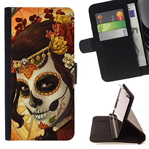 momo-phone-case-flip-funda-de-cuero-case-cover-queen-golden-candy-skull-auburn-sony-xperia-m4-aqua