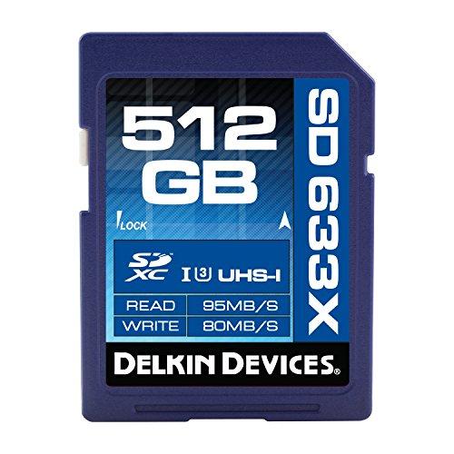 Delkin 633X UHS-I U3512GB SDXC SPEICHERKARTE