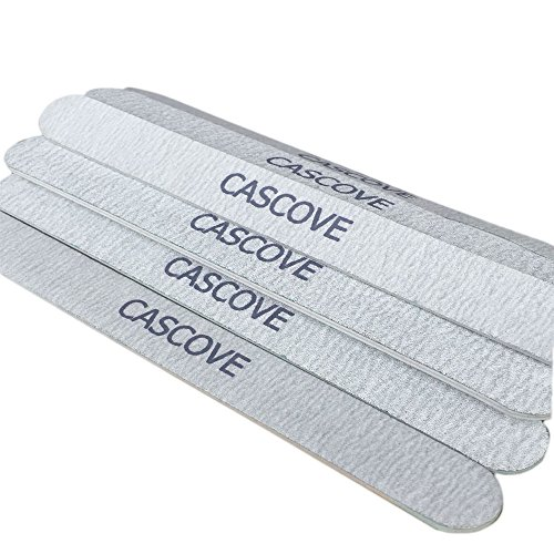 Cascove 15 x Double Sided 100/180 Grit Nail Files Emery Board Boomerang Manicure Tips