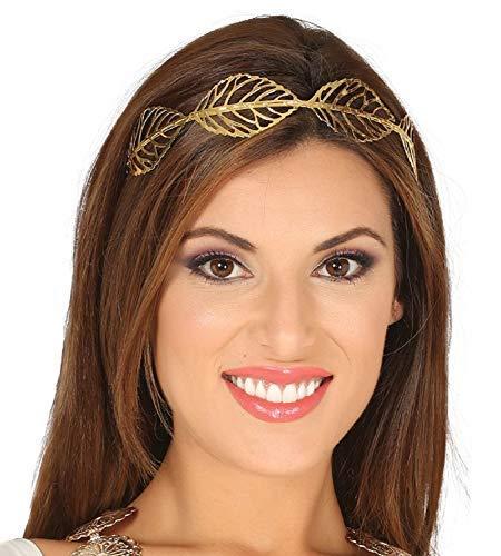 (Damen Gold Blätter Historisch Römisch Griechisch Junggesellinnenabschied Kostüm Kleid Outfit Stirnband Haarband)