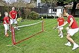Pop-Up Mini-Tennis-Netz für die Verwendung in Garten, Park, Strand oder Tennisplatz.