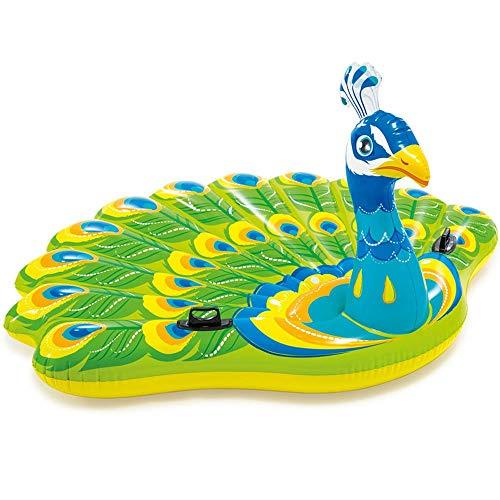 Kreativer Pfau-Sich hin- und herbewegender Reihen-doppelte aufblasbare Sich hin- und herbewegende Entwässerung auf dem großen starken Freizeit-Schlafsofa-Schwimmen-Sitz für Wasser-Spaß