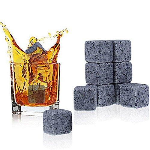 e Eiswürfel 9/Set Kalte Steine Rocks für Getränke wiederverwendbar Chillen Eiswürfel für Whiskey Wein Getränk, Saft Soda und anderen Getränken (Vanille-wodka Rezepte)