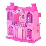 MagiDeal Mini Puppenhaus Villa aus Kunststoff Für Barbie Puppe - Kinder Rollenspiel Spielzeug - Zufällig Farbe
