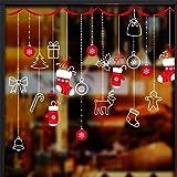 Christmas Mall vitrine fenêtre vitrine autocollants Wall Stickers Noël autocollants fenêtre jour