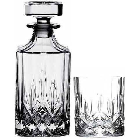 exckusive Crystal Whisky Service 7–Piezas: Jarra + 6vasos de Toscana