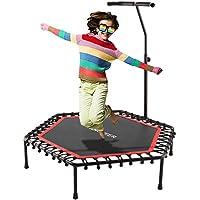 Ancheer Fitness Trampolin, Leise Gummiseilfederung, Höhenverstellbarer Haltegriff Mit Springende Matte, Trampolin Belastbarkeit 150 Kg, Erwachsene/Kinder Indoor/Outdoor Trampolin