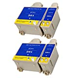 Ouguan® 4x (2 Noir + 2 Tri-colore) Kodak 10 10B 10C XL Cartouche d'encre Compatible pour Kodak ESP3 5 7 9 3250 5210 5250 7250 9250 Office 6150 EASYSHARE 5100 5300 5500 Hero 6.1 7.1 9.1
