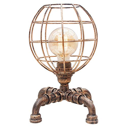 Table Vintage Industrielle Lampe Steampunk Table Lumineuse