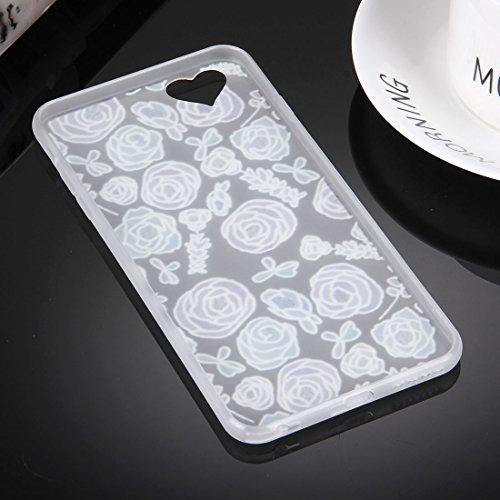 Phone case & Hülle Für iPhone 6 Plus / 6s Plus, Prägung Rosa und Weiß Blumenmuster Soft TPU Schutzhülle ( SKU : Ip6p0476a ) Ip6p0476f