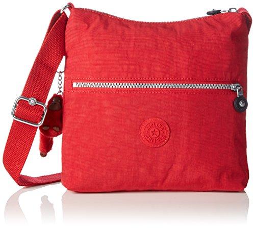 Kipling ZAMOR Damen Umhängetaschen 25.5x24.5x4 cm (B x H x T), Rot (35J Vibrant Red)
