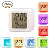 Digital Alarm Clock 7 LED Colour Change with Temperature, Alarm and Sleeping Function