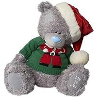 XL Me To You-Orsetto di peluche di Natale, a forma di orsetto con maglione natalizio & cappello di Babbo Natale