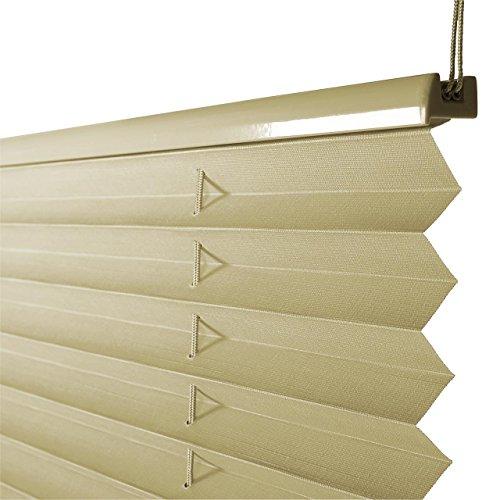 Plissee Rollo Sonnen- und Sichtschutz Klemmfix, ohne Bohren Breite 70 cm Höhe 130 cm in Gelb - 5