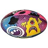 Optimum - Balón de rugby, diseño de extraterrestre, color multicolor - multicolor, tamaño talla 3