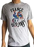 Irony Herren T-Shirt Frankreich Hahn Maskottchen Fußball Russland WM 2018 TS1311