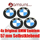 4x ORIGINAL BMW Logo Radnaben Emblem 57 mm Plakette Felgenemblem selbstklebend