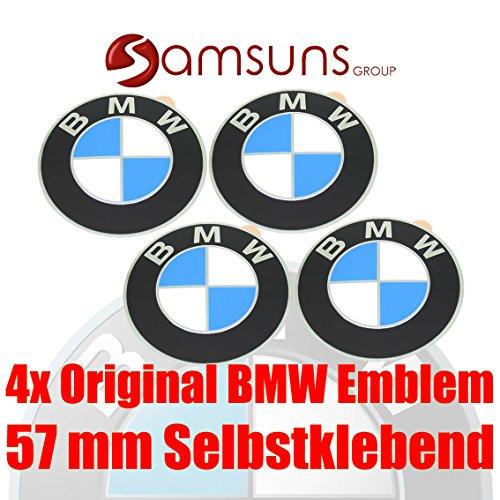Preisvergleich Produktbild 4x ORIGINAL BMW Logo Radnaben Emblem 57 mm Plakette Felgenemblem selbstklebend
