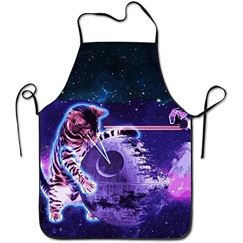HTHYTJC Halloween Party Skull Lock Edge Adult Kids Children Baking Restaurant Pinafore with Neck Strap Apron