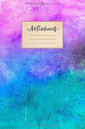 Notizbuch: DIN A5 Format, 100 linierte Seiten, glänzendes Softcover-Design, weißes Papier | Notizheft - Tagebuch - Journal - Planer | Cover: ... Türkis Rauch Bunt Farbenfroh Muster Kunst
