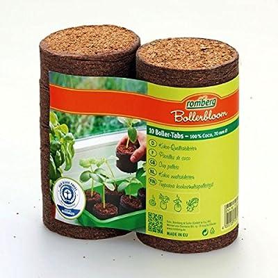 10 Kokos-Quelltabletten Ø 70mm (Kokosquelltabletten) von Romberg auf Du und dein Garten