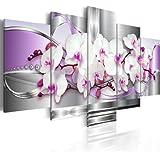 Quadro 200x100 cm - 5 Parti - Quadro su tela fliselina - Stampa in qualita fotografica ᅵ fiori Quadro 020110-118 200x100 cm B&D XXL