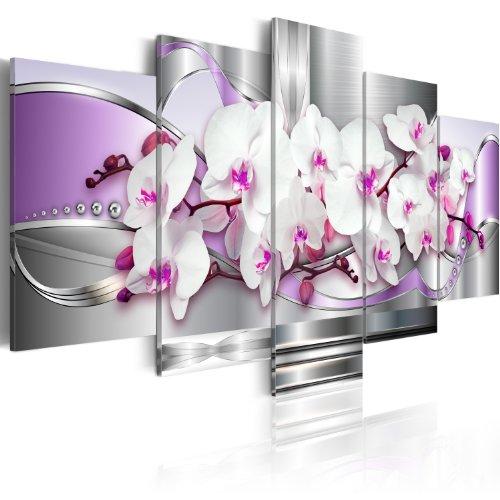 Cuadro en Lienzo 100x50! 5 partes - Impresion en calidad fotografica - Cuadro en lienzo tejido-no tejido - flores 020110-118 100x50 cm B&D XXL